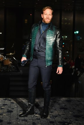 NEW YORK, NY - FEBRUARY 11: A model walks the runway during Billionaire Fall/Winter 2019/2020 Runway at The Grill on February 11, 2019 in New York, New York. (Photo by Slaven Vlasic/Getty Images for Philipp Plein & Billionaire )
