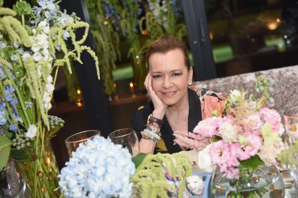 Caroline Scheufele is awarded Designer of the Year at the MAISON-DE-MODE.COM Sustainable Style Gala at Sunset Tower on February 23, 2019 in Los Angeles
