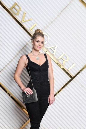 MILAN, ITALY - FEBRUARY 22: Lady Kitty Spencer attends BVLGARI - Dinner Party - Milan Fashion Week FW19 on February 22, 2019 in Milan, Italy. (Photo by Daniele Venturelli/Daniele Venturelli/Getty Images for BVLGARI )