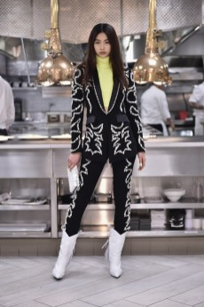 NEW YORK, NY - FEBRUARY 11: A model walks the runway during Philipp Plein Fall/Winter 2019/2020 Runway at The Grill on February 11, 2019 in New York, New York. (Photo by Steven Ferdman/Getty Images for Philipp Plein & Billionaire )