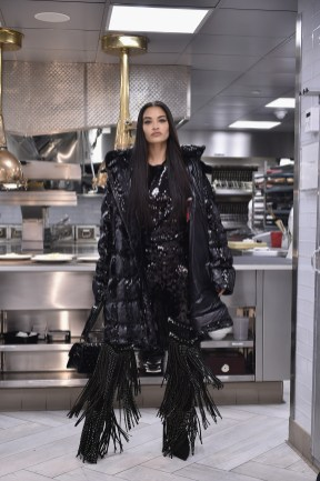 NEW YORK, NY - FEBRUARY 11: Shanina Shaik walks the runway during Philipp Plein Fall/Winter 2019/2020 Runway at The Grill on February 11, 2019 in New York, New York. (Photo by Steven Ferdman/Getty Images for Philipp Plein & Billionaire ) *** Local Caption *** Shanina Shaik