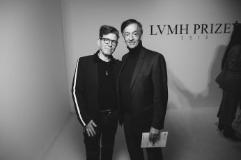 LVMH PRIZE 2019 COCKTAIL - ROBERT CARSEN AND JEAN-PAUL CLAVERIE © VIRGILE GUINARD