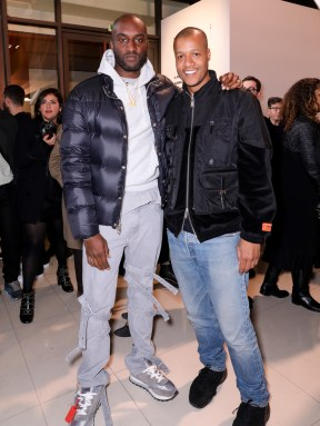 LVMH PRIZE 2019 COCKTAIL - VIRGIL ABLOH AND HERON PRESTON ©François Goize