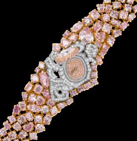12-14-738 Fancy Cut Pink Diamond Watch 2 angle
