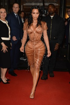 NEW YORK, NEW YORK - MAY 06: Kim Kardashian and Kayne West depart The Mark Hotel for the 2019 'Camp: Notes on Fashion' Met Gala on May 06, 2019 in New York City. (Photo by Andrew Toth/Getty Images for The Mark Hotel)