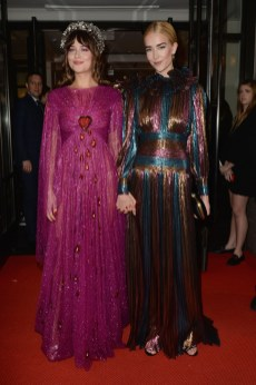 NEW YORK, NEW YORK - MAY 06: Dakota Johnson and Grace Johnson depart The Mark Hotel for the 2019 'Camp: Notes on Fashion' Met Gala on May 06, 2019 in New York City. (Photo by Andrew Toth/Getty Images for The Mark Hotel)