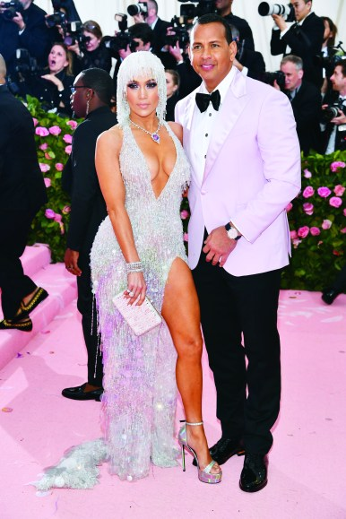 NEW YORK, NEW YORK - MAY 06: Jennifer Lopez and Alex Rodriguez attend The 2019 Met Gala Celebrating Camp: Notes on Fashion at Metropolitan Museum of Art on May 06, 2019 in New York City. (Photo by Dimitrios Kambouris/Getty Images for The Met Museum/Vogue)