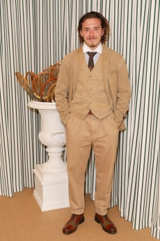 LONDON, ENGLAND - JULY 14: Brooklyn Beckham in Polo Ralph Lauren attends the Polo Ralph Lauren suite during the Wimbledon Tennis Championship Men's Final at All England Lawn Tennis and Croquet Club on July 14, 2019 in London, England. (Photo by Darren Gerrish/WireImage)