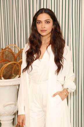 LONDON, ENGLAND - JULY 14: Deepika Padukone in Ralph Lauren Collection attends the Polo Ralph Lauren suite during the Wimbledon Tennis Championship Men's Final at All England Lawn Tennis and Croquet Club on July 14, 2019 in London, England. (Photo by Darren Gerrish/WireImage)