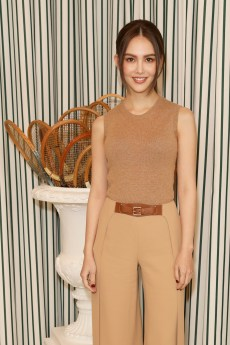 LONDON, ENGLAND - JULY 14: Hannah Quinlivan in Polo Ralph Lauren attends the Polo Ralph Lauren suite during the Wimbledon Tennis Championship Men's Final at All England Lawn Tennis and Croquet Club on July 14, 2019 in London, England. (Photo by Darren Gerrish/WireImage)