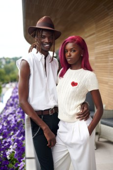 Leomie Anderson with Lancey Fouxx in Polo Ralph Lauren