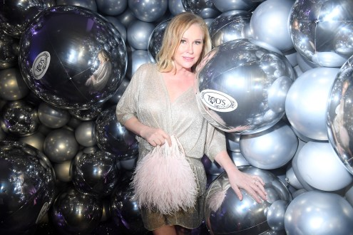 PARIS, FRANCE - JULY 02: Kathy Hilton attends Tod's X Alber Elbaz Happy Moments at Yoyo Palais De Tokyo on July 02, 2019 in Paris, France. (Photo by Victor Boyko/WireImage)