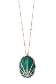 Unique by DJULA collier or à pendentif Oeil or diamants et malachite RP Nicolas DS @ FComm