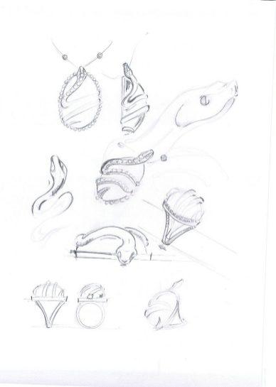Unique by DJULA dessins préparatoires copie