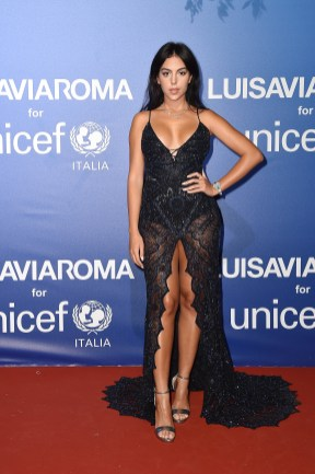 PORTO CERVO, ITALY - AUGUST 09: Georgina Rodriguez attends the photocall at the Unicef Summer Gala Presented by Luisaviaroma at on August 09, 2019 in Porto Cervo, Italy. (Photo by Jacopo Raule/Getty Images for Luisaviaroma)