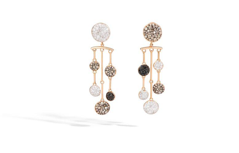 BO Sabbia Pomellato - or rose, diamants bruns blancs et noirs - 13 000€