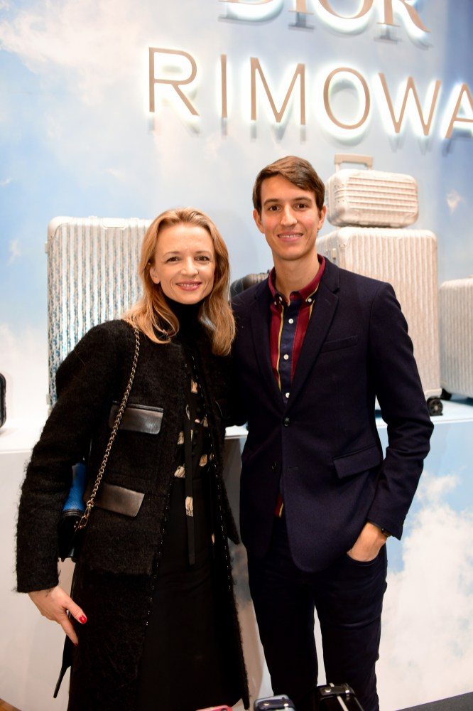 PARIS, FRANCE - OCTOBER 24: Delphine Arnault and Alexandre Arnault attend the Dior And Rimowa Cocktail at Dior Champs-Elysees Flagship Boutique on October 24, 2019 in Paris, France. (Photo by Anthony Ghnassia/Getty Images for Dior Homme)