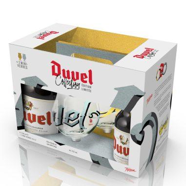 Duvel & Tyrsa - Coffret 4x33cl + 2 mini-verres 16,5cl - Simulation Argent