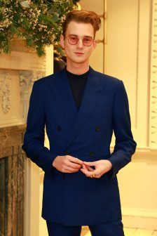 LONDON, ENGLAND - NOVEMBER 20: Max Wallis attends the opening celebrations for the J.P Hackett store at No.14 Savile Row on November 20, 2019 in London, England. (Photo by David M. Benett/Dave Benett/Getty Images for Hackett)