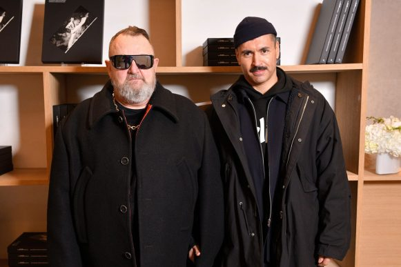 PARIS, FRANCE - NOVEMBER 21: Michel Gaubert and Ryan Aguilar attend Dior Sessions Book Signing on November 21, 2019 in Paris, France. (Photo by Francois Durand/Getty Images for Dior)