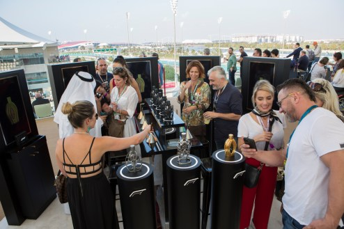 General atmoshphere at the launch of the F1 fragrance at the Formula 1 Etihad Airways Grand Prix, Yas Marina Circuit on November 30, 2019 in Abu Dhabi