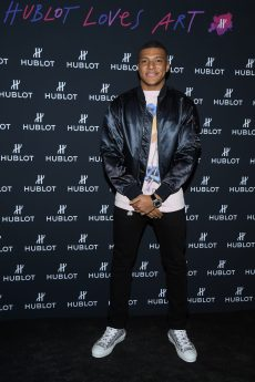 "PARIS, FRANCE - DECEMBER 16: Kylian Mbappe attends the ""Hublot Loves Art"" Party At Fondation Louis Vuitton on December 16, 2019 in Paris, France. (Photo by Pascal Le Segretain/Getty Images)"