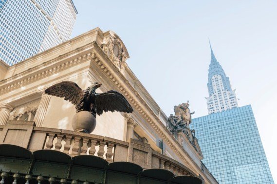 Cast iron eagle statue at Grand Central Terminal, New York City, NY, USA