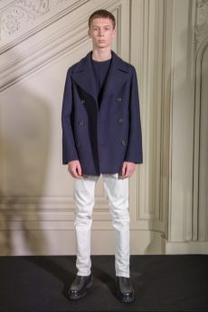 Look from the Smalto Fashion Show Menswear Collection Fall Winter 2020 in Paris