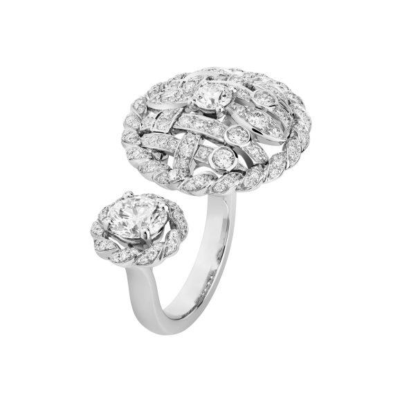 Tweed Cordage Ring White Gold-hd