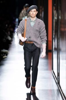 Model wears an outfit , as part of the men s wear fall winter 2020 2021, men fashion week, Paris, France, from the house of Dior