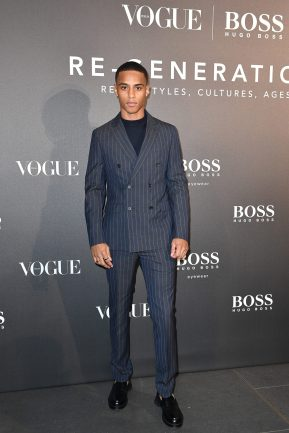 MILAN, ITALY - FEBRUARY 21: Keith Powers arrives for the BOSS & VOGUE Italia Event at Hotel Viu Milan on February 21, 2020 in Milan, Italy. (Photo by Jacopo M. Raule/Getty Images for Boss)