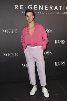 MILAN, ITALY - FEBRUARY 21: Cameron Dallas arrives for the BOSS & VOGUE Italia Event at Hotel Viu Milan on February 21, 2020 in Milan, Italy. (Photo by Jacopo M. Raule/Getty Images for Boss)