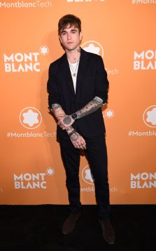 NEW YORK, NEW YORK - MARCH 10: Gabriel-Kane Day-Lewis attends as Montblanc celebrates the launch of MB 01 Headphones & Summit 2+ at World of McIntosh on March 10, 2020 in New York City. (Photo by Dimitrios Kambouris/Getty Images for Montblanc)