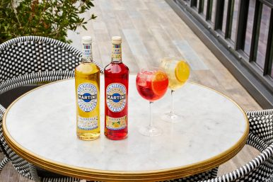 MARTINI NON-ALCOHOLIC VIBRANTE AND FLOREALE AND TONIC SUMMER (WITH BOTTLES, WITHOUT FOOD)