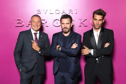 ROME, ITALY - SEPTEMBER 14: Jean-Christophe Babin, Matt Dillon and Jon Kortajarena attend Bulgari Barocco on September 14, 2020 in Rome, Italy. (Photo by Daniele Venturelli/Getty Images for Bulgari)