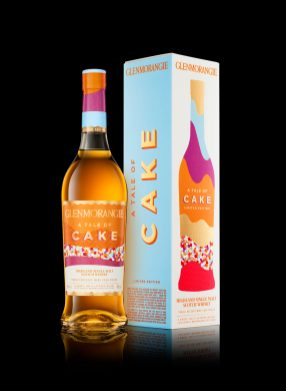 Glenmorangie Tale Of Cake Bottle And 1 Pack On Black HiRes
