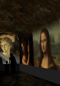 Spectacle immersif - image de synthèse © Château du Clos Lucé – Parc Leonardo da Vinci. Arc-en-Sce:ne : Drôle de Trame 4