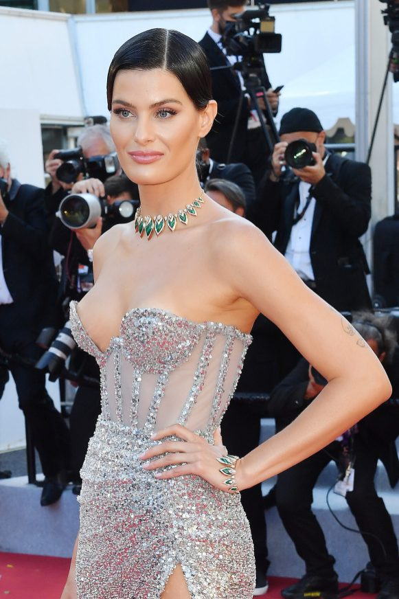 """CANNES, FRANCE - JULY 13: Isabeli Fontana attends the """"Aline, The Voice Of Love"""" screening during the 74th annual Cannes Film Festival on July 13, 2021 in Cannes, France. (Photo by Stephane Cardinale - Corbis/Corbis via Getty Images)"""