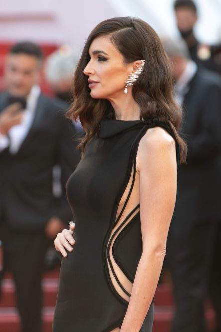 """CANNES, FRANCE - JULY 10: Actress Paz Vega attends the """"De Son Vivient (Peaceful)"""" screening during the 74th annual Cannes Film Festival on July 10, 2021 in Cannes, France. (Photo by Marc Piasecki/FilmMagic)"""