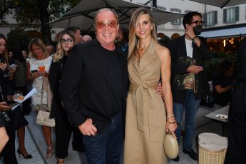MILAN, ITALY - SEPTEMBER 23: Michael Kors and Nicoletta Romanoff are seen at Michael Kors intimate Cocktail Party in Celebration of his 40th Anniversary on September 23, 2021 in Milan, Italy. (Photo by Jacopo M. Raule/Getty Images for Michael Kors)
