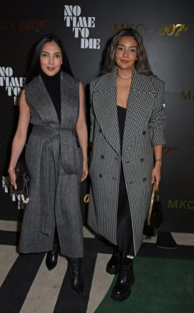 LONDON, ENGLAND - SEPTEMBER 29: Massiel Feliz and Denis Colak attend a private screening of 'No Time To Die' hosted by Michael Kors in celebration of the Michael Kors Bond 007 Capsule Collection partnership, at the Everyman Chelsea on September 29, 2021 in London, England. (Photo by David M. Benett/Dave Benett/Getty Images for Michael Kors)