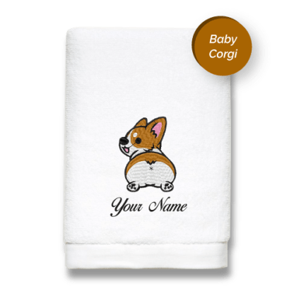 special-edition-baby-corgi-luxurious-towels