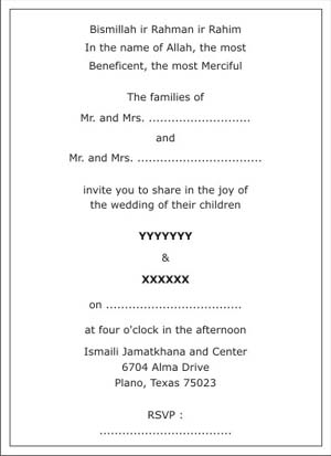 Wedding Invitation Cards Font Styles