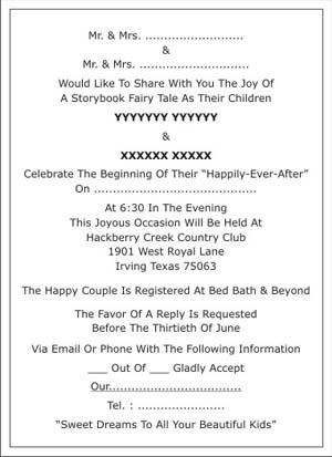 Muslim Wedding Invitation Wordings