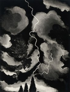 David Hockney A Study of Lightning