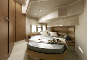 The interior of the Azimut 45 VIP room