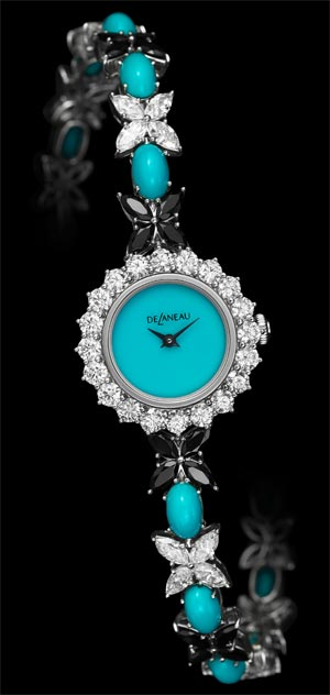 Les Délicates jewelry watch collection from DeLaneau. Romantic, sparkling and precious. 4