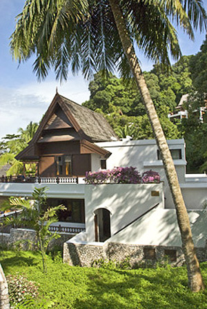 A garden villa at Pangkor Laut Resort
