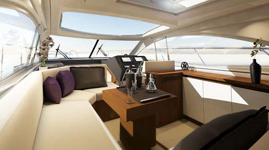 The cockpit acts as the heart of the boat.