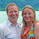 Newly engaged Neil and Catherine from England having a 'Wonderful Time' at Pangkor Laut Resort